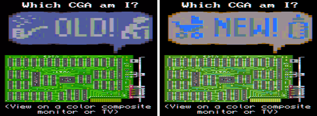 CGA type determination screen