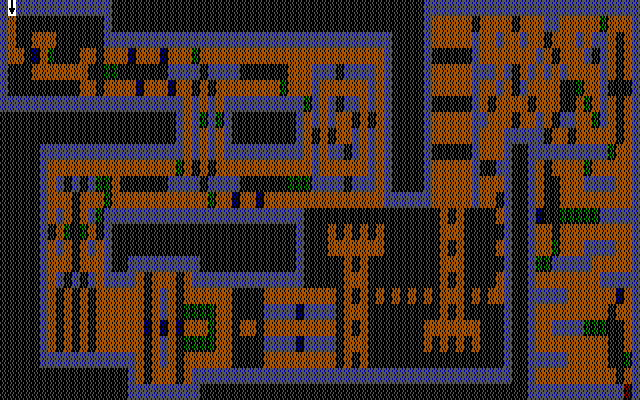 101 Monochrome Mazes as it would appear on CGA
