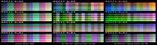 New-style CGA - all palettes
