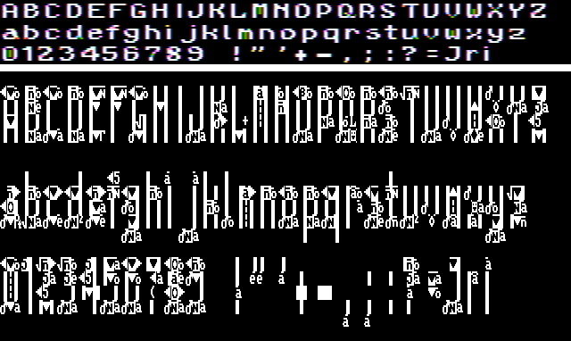 CGA typography from hell
