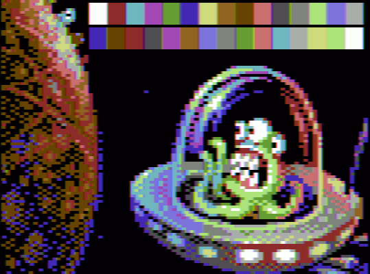 C64 palette on CGA - test