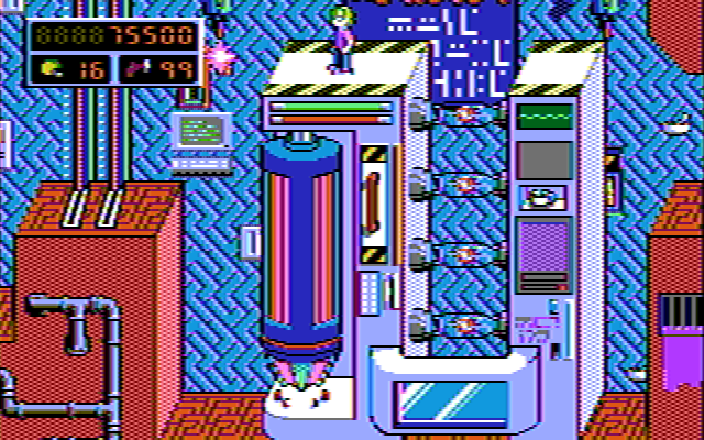 Commander Keen 4 in 16 composite CGA colors (I)