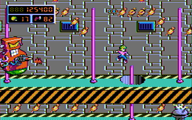 Commander Keen 4 in 16 composite CGA colors (II)