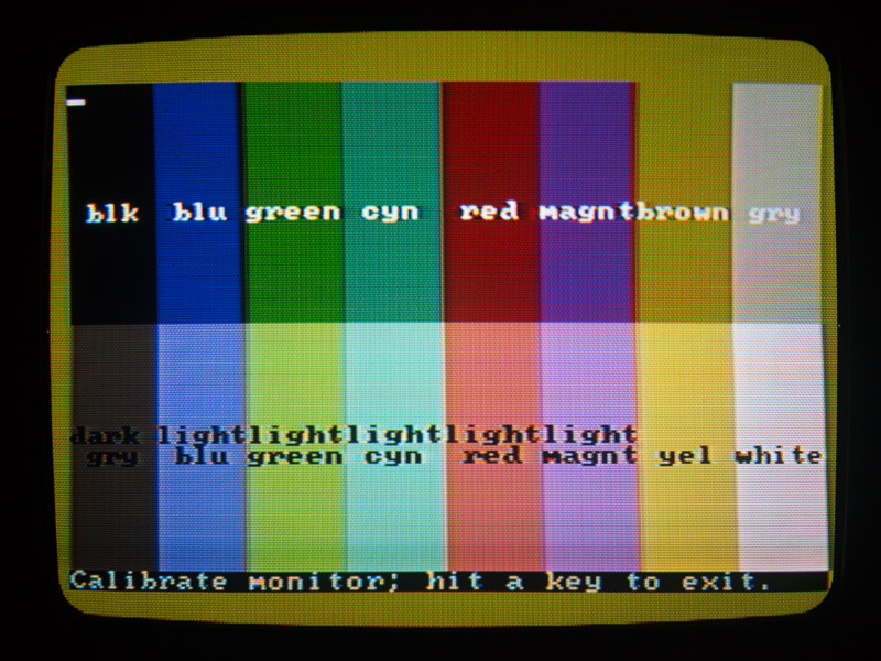 New-style CGA on TV - direct colors