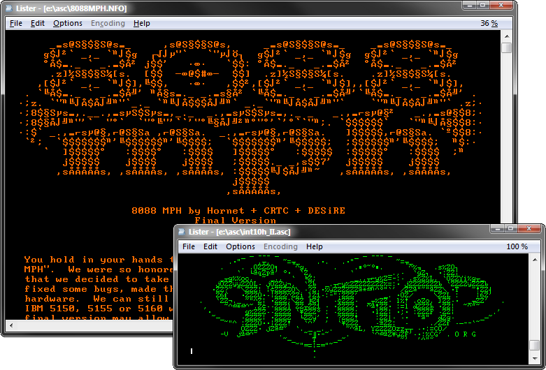 The Ultimate Oldschool PC Font Pack: Preview